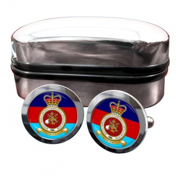 Defence Chemical biological radiological and Nuclear Centre Round Cufflinks