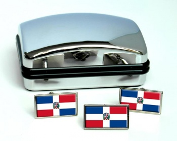 Dominican Republic Flag Cufflink and Tie Pin Set