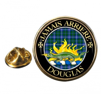 Douglas Scottish Clan Round Pin Badge