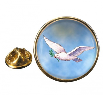 Dove of the Ark Round Pin Badge
