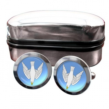 Dove Descending Round Cufflinks