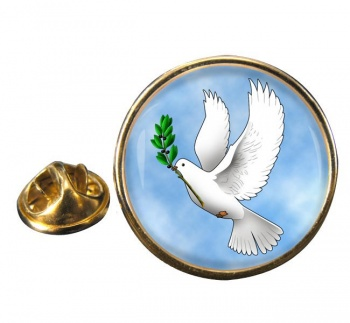 Dove of Noah Round Pin Badge