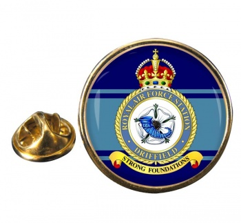RAF Station Driffield Round Pin Badge