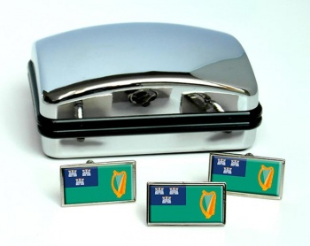 Dublin (Ireland) Flag Cufflink and Tie Pin Set