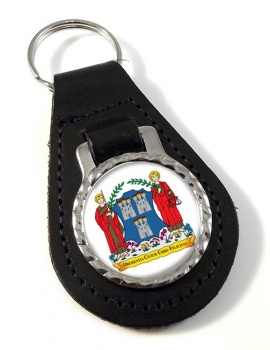 Dublin (Ireland) Leather Key Fob