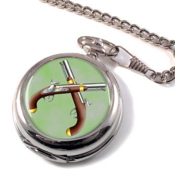 Duelling Pistols Pocket Watch