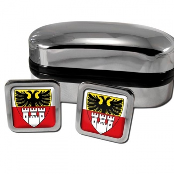 Duisburg Germany Square Cufflinks