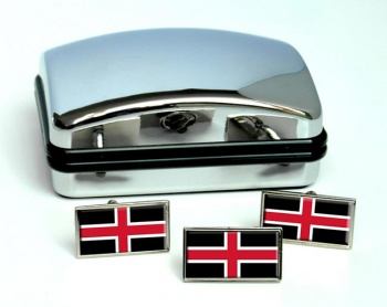 Durham (England) Flag Cufflink and Tie Pin Set