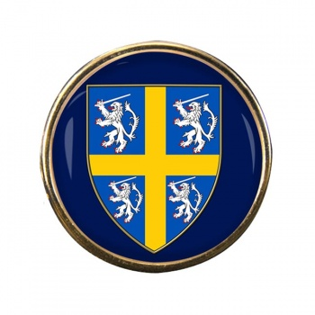 Durham historic arms Round Pin Badge