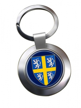 Durham historic arms Metal Key Ring