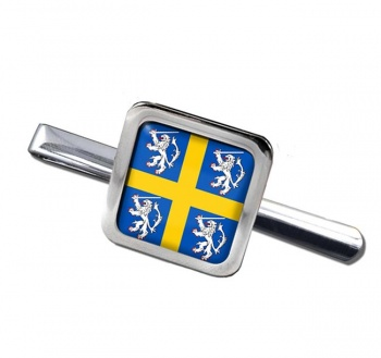 Durham historic arms Square Tie Clip