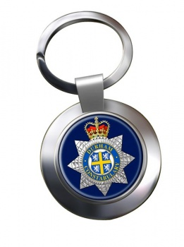 Durham Constabulary Chrome Key Ring