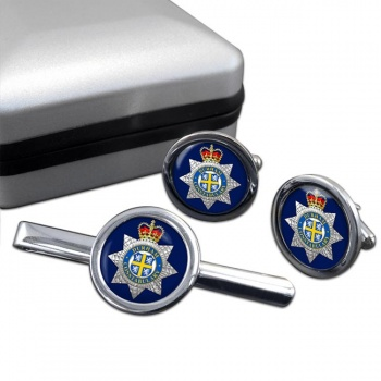 Durham Constabulary Round Cufflink and Tie Clip Set