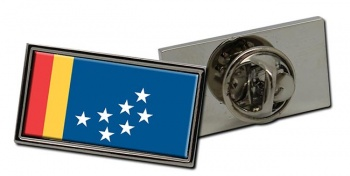 Durham NC  Flag Pin Badge