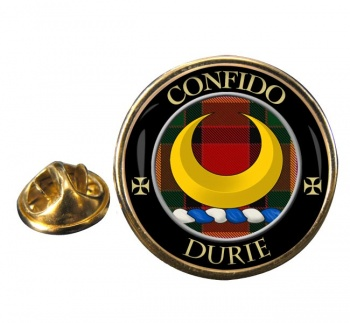 Durie Scottish Clan Round Pin Badge