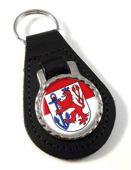 Dusseldorf (Germany) Leather Key Fob