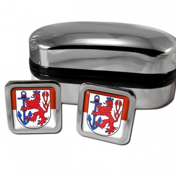 Dusseldorf Germany Square Cufflinks
