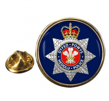 Dyfed Powys Police Round Pin Badge