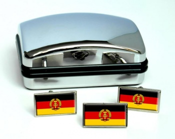Ostdeutschland (East Germany) Flag Cufflink and Tie Pin Set