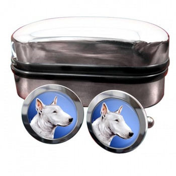 English Bull Terrier  Round Cufflinks