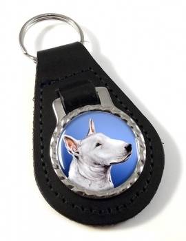 English Bull Terrier Leather Key Fob