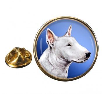 English Bull Terrier Round Pin Badge