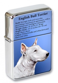 English Bull Terrier Flip Top Lighter