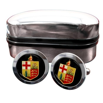 Eastern Counties Railway Round Cufflinks