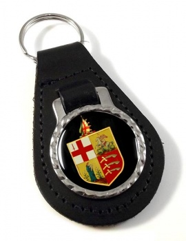 Eastern Counties Railway Leather Keyfob