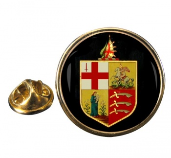 Eastern Counties Railway Round Lapel