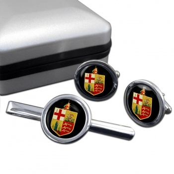 Eastern Counties Railway Cufflink and Tie Clip Set