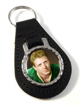 Eddie Cochrane Leather Key Fob