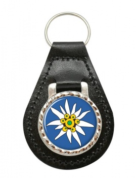 Edelweiss Leather Key Fob