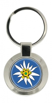 Edelweiss Chrome Key Ring