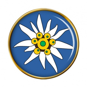 Edelweiss Round Pin Badge