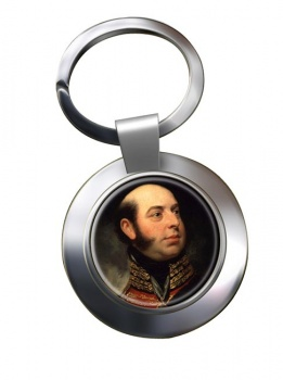 Edward Duke of Kent Chrome Key Ring