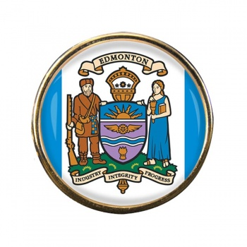 Edmonton (Canada) Round Pin Badge