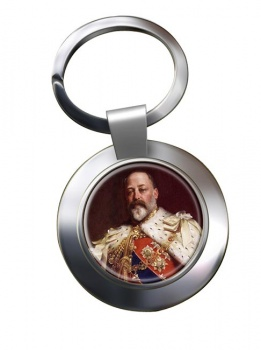 King Edward VII of Great Britain Chrome Key Ring
