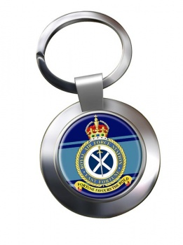 RAF Station East Fortune Chrome Key Ring
