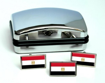 Egypt Flag Cufflink and Tie Pin Set