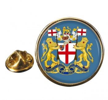 East India Company Round Pin Badge