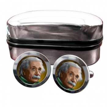 Albert Einstein Round Cufflinks
