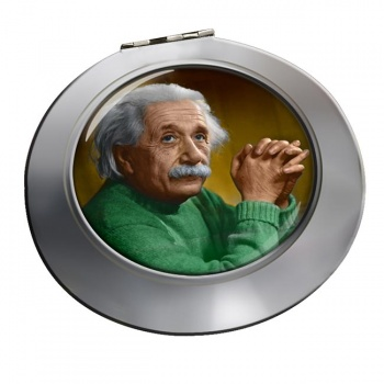 Albert Einstein Chrome Mirror