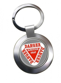 Danger Ejection Seat Chrome Key Ring