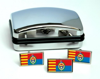 Elche (Spain) Flag Cufflink and Tie Pin Set