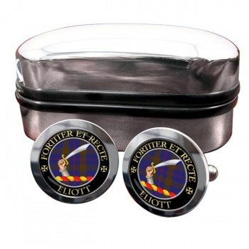 Eliott Scottish Clan Round Cufflinks