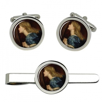 Ellen Terry Cufflink and Tie Clip Set
