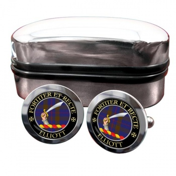 Elliott Scottish Clan Round Cufflinks