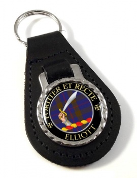 Elliott Scottish Clan Leather Key Fob