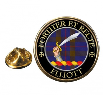 Elliott Scottish Clan Round Pin Badge